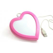 Chauffe tasse USB en forme de cœur rose