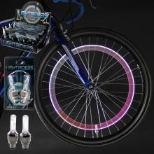 Lot de 2 valves lumineuses multicolores pour vélo