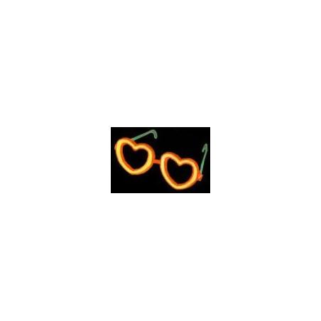 Lunettes fluorescentes en forme de coeur