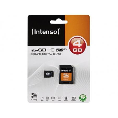 Carte micro SD HC 4GB avec adaptateur carte SD