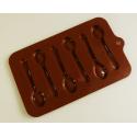 Moule cuillères en chocolat