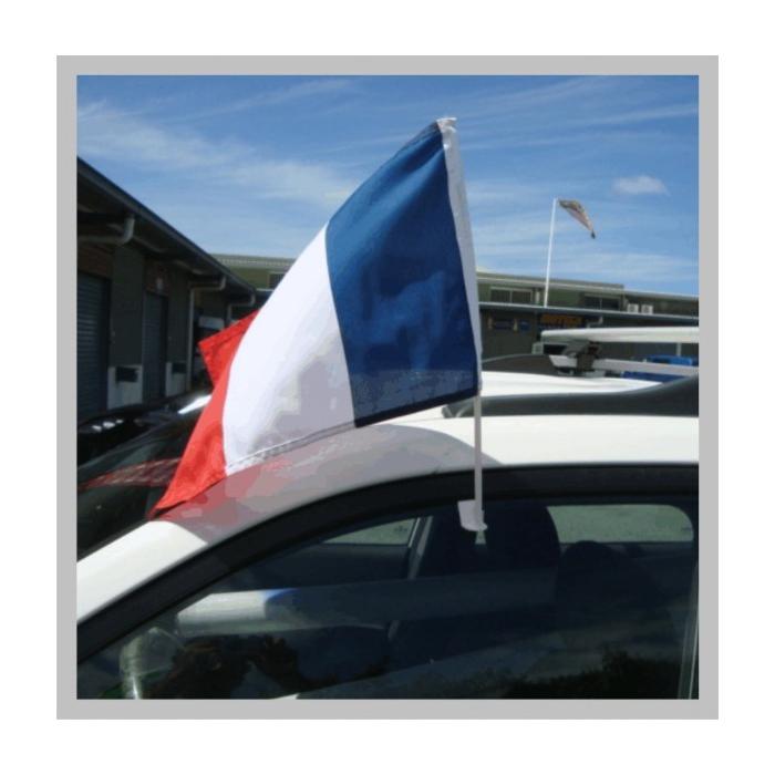 drapeaux fran ais bleu blanc et rouge pour voiture. Black Bedroom Furniture Sets. Home Design Ideas