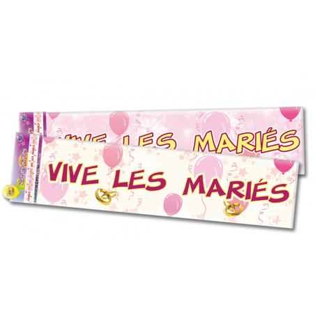 """Bannière """"Vive les mariés"""" de 2 - 44 mètres"""