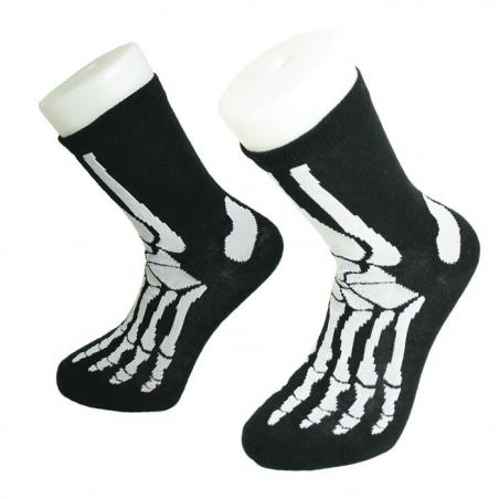 Paire de chaussettes squelette