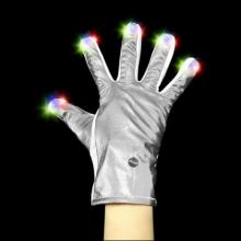 Gant lumineux argenté