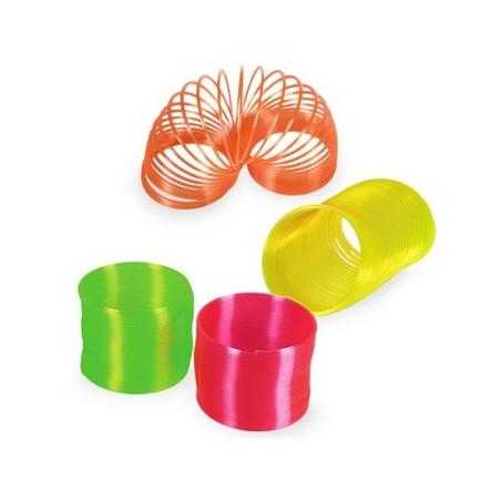 Spirale ressort en plastique néon