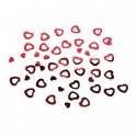 Confettis de table en forme de coeur