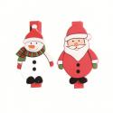 Epingles père noël et bonhomme de neige