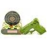 Réveil cible avec pistolet camouflage