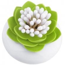 Distributeur de cotons-tiges fleur de lotus