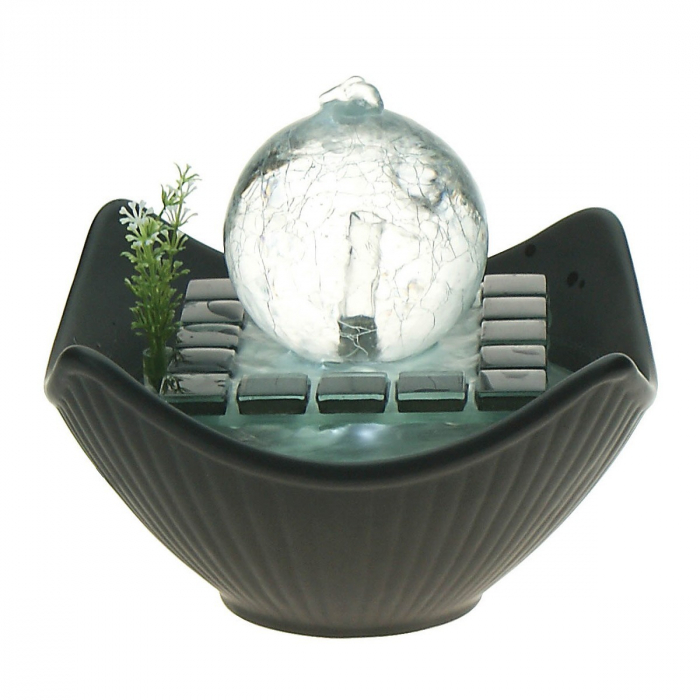 Fontaine boule de verre