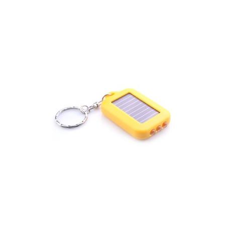 Lampe porte clefs solaire jaune