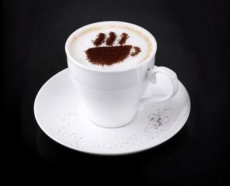 Pochoirs /à caf/é Barista en plastique pour cappuccino 16 pochoirs de d/écoration de caf/é