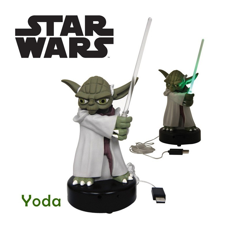 lampe usb yoda star wars avec d tecteur de mouvements. Black Bedroom Furniture Sets. Home Design Ideas