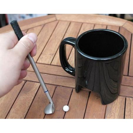 Mug golf avec balle, club et stylo