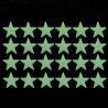 Étoiles fluorescentes (lot de 24)