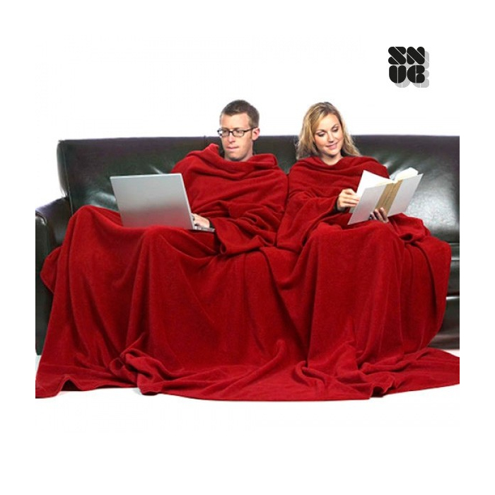 Couverture double avec manches pour deux personnes