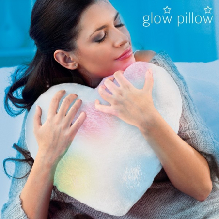 Coussin coeur lumineux