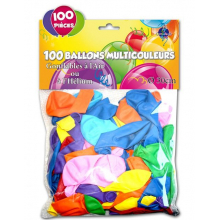 Lot de 100 ballons multicolores
