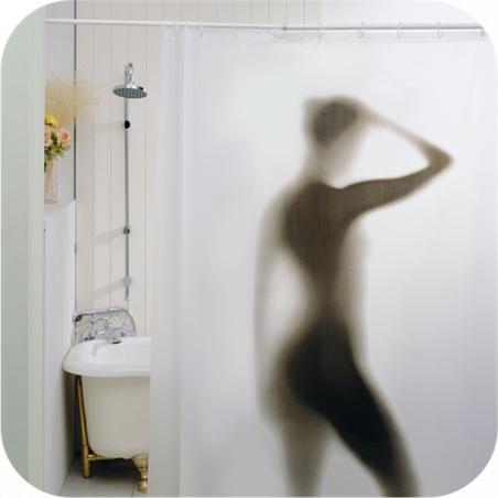 Rideau de douche sexy femme nue