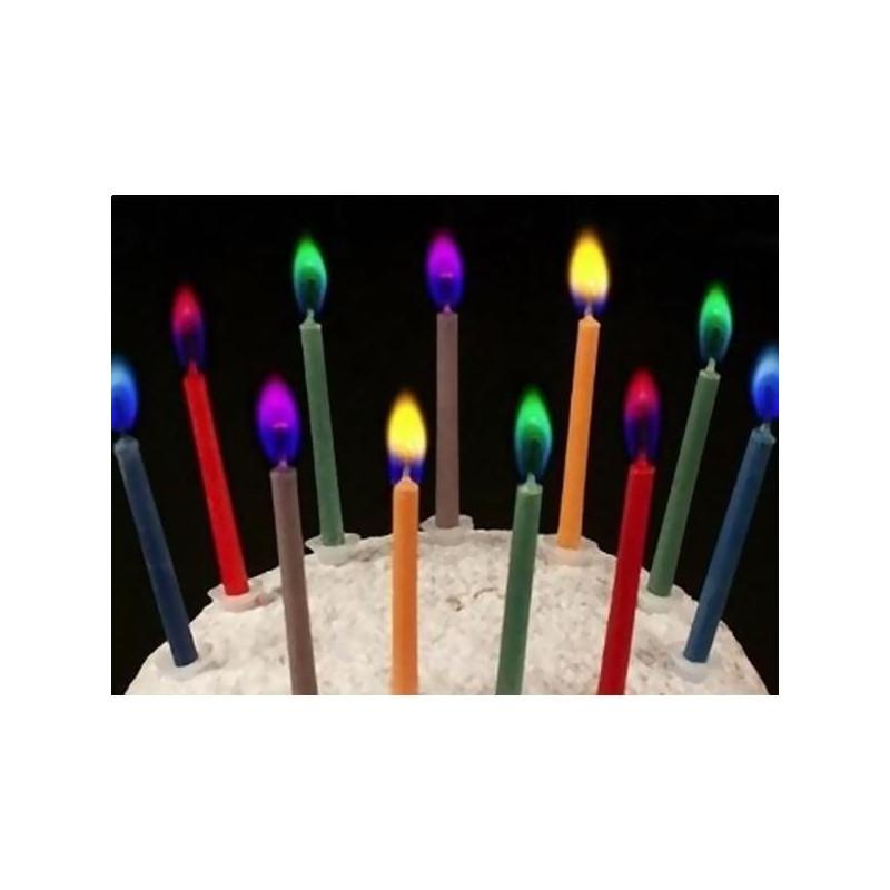 bougies flamme color e lot de 12. Black Bedroom Furniture Sets. Home Design Ideas