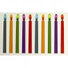 Bougies flamme colorée (lot de 12)