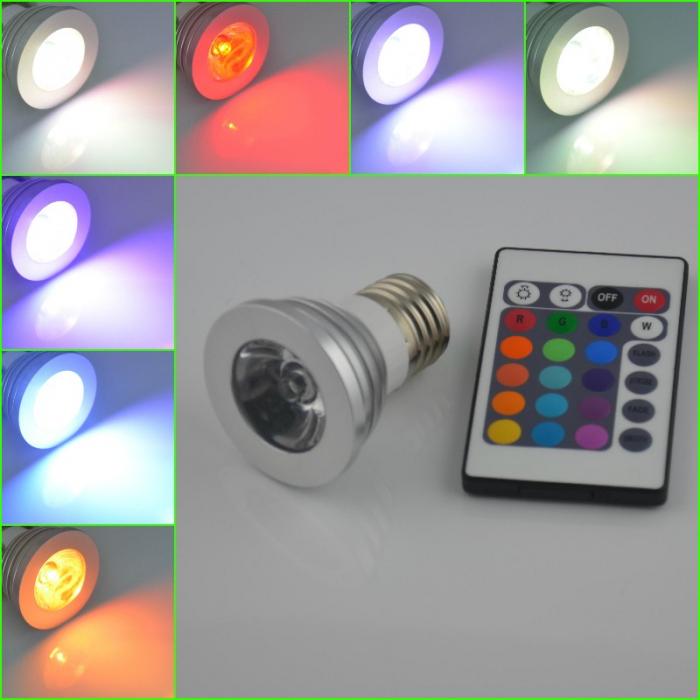 Ampoule led 16 couleurs avec t l commande for Ampoule de couleur castorama