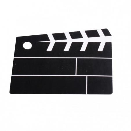Etiquettes porte nom clap de cinéma
