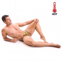 Housse de table à repasser homme sexy qui se déshabille