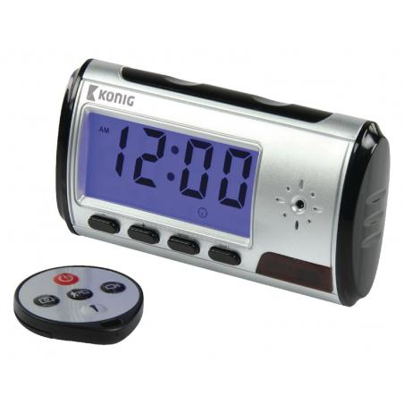 Horloge réveil avec caméra espion