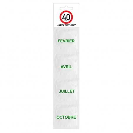 Kit de préservatifs 40 ans (lot de 4)