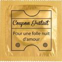 Préservatif humoristique coupon gratuit pour une folle nuit d'amour