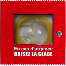 Préservatif humoristique brisez la glace en cas d'urgence
