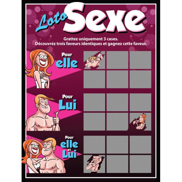 Ticket à gratter loto sexe