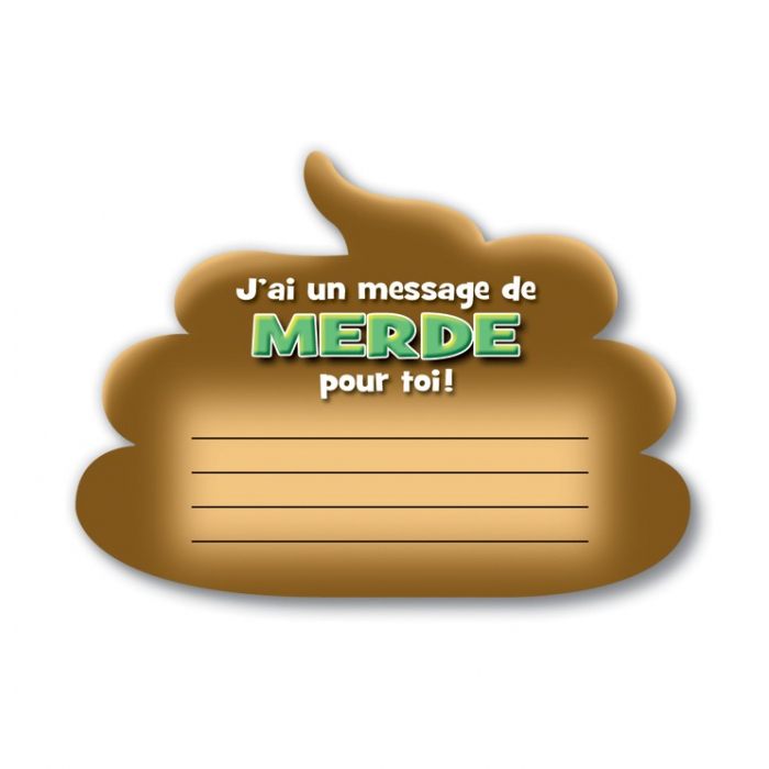 Bloc-notes j'ai un message de merde