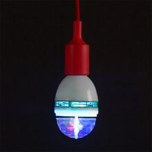 Ampoule LED multicolore rotative E27