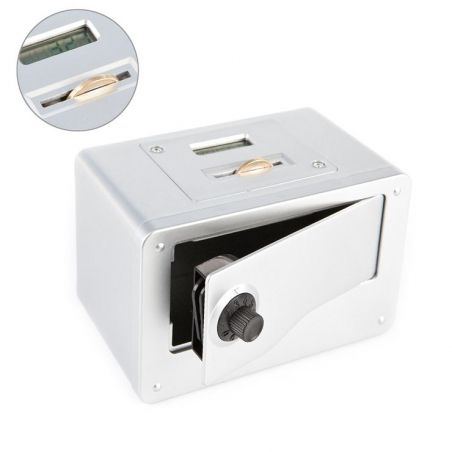 Tirelire coffre-fort avec compteur numérique