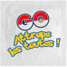 Préservatif humoristique Pokémon GO : Attrape les toutes !