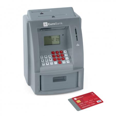 Tirelire EuroBank distributeur de billets avec carte bleue