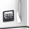 Cassette enregistreur de messages audio aimantée