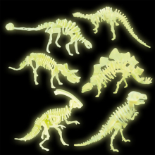 Maquettes de dinosaures phosphorescents (lot de 2)