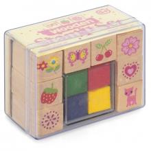 Tampons encreurs 8 motifs 4 couleurs