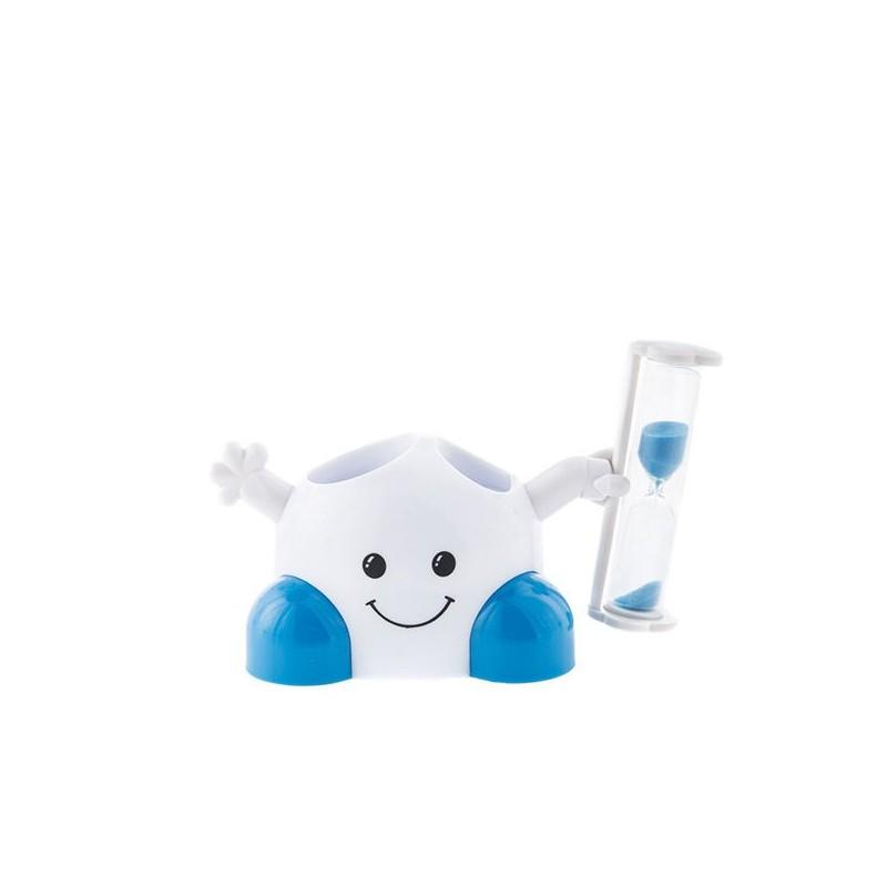 support brosse dents et dentifrice avec sablier int gr pour enfants. Black Bedroom Furniture Sets. Home Design Ideas