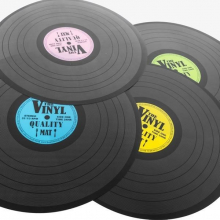 Set de table disque vinyl (lot de 4 couleurs)