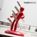 Porte-couteau avec 5 couteaux en acier inoxydable
