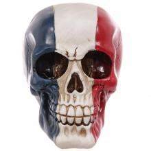 Crâne design bleu blanc rouge
