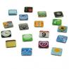 Lot de 12 magnets applications, aimants pour frigo