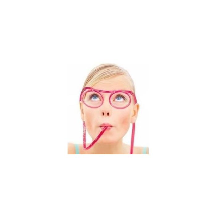 Paille en forme de lunettes