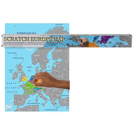 Carte à gratter Europe