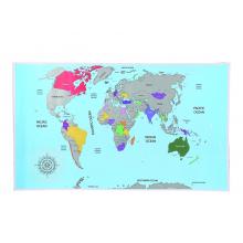 Carte à gratter Monde
